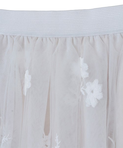 31 Sons de mode(トランテアン ソン ドゥ モード)/チュール刺繍スカート/0038305_img13