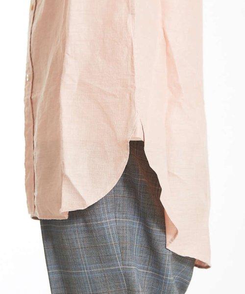 ABAHOUSE(ABAHOUSE)/リネンカールマイヤーバンドカラーロングシャツ/00370010009_img07