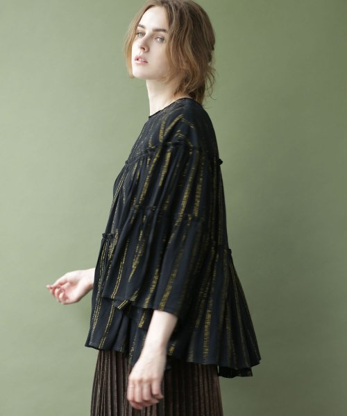 nano・universe(ナノ・ユニバース)/NE QUITTEZ PAS/別注 lurex stripe top/6718220031_img02