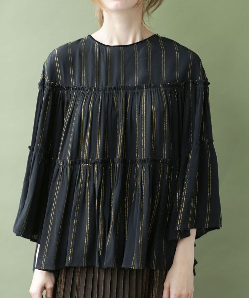 nano・universe(ナノ・ユニバース)/NE QUITTEZ PAS/別注 lurex stripe top/6718220031_img07