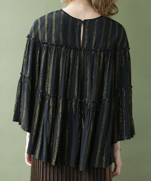 nano・universe(ナノ・ユニバース)/NE QUITTEZ PAS/別注 lurex stripe top/6718220031_img09