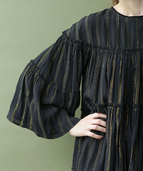 nano・universe(ナノ・ユニバース)/NE QUITTEZ PAS/別注 lurex stripe top/6718220031_img12