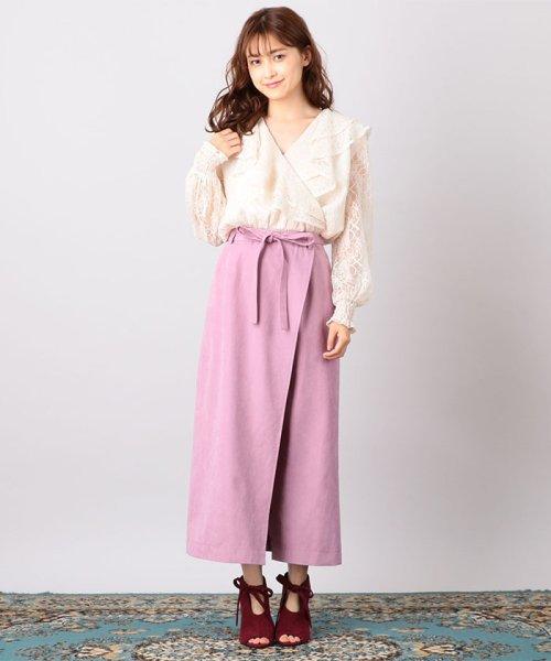 MIIA(ミーア)/Aラインラップ風スカート/32831816_img01
