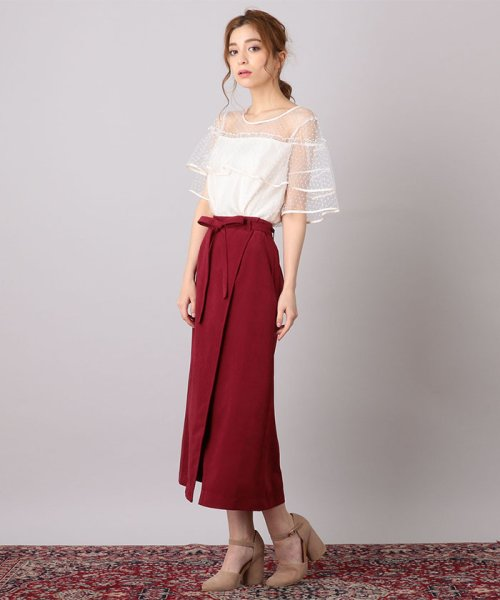 MIIA(ミーア)/Aラインラップ風スカート/32831816_img02