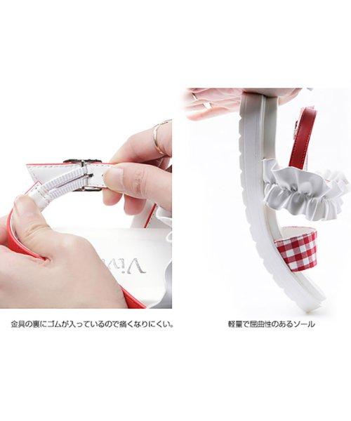 Cocoa(ココア)/ギンガムチェックフリルスポーツサンダル/T0164SMH_img03