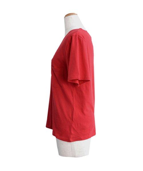 ANDJ(ANDJ(アンドジェイ))/UVカット加工VネックポケットコットンTシャツ/ts75x03923_img09