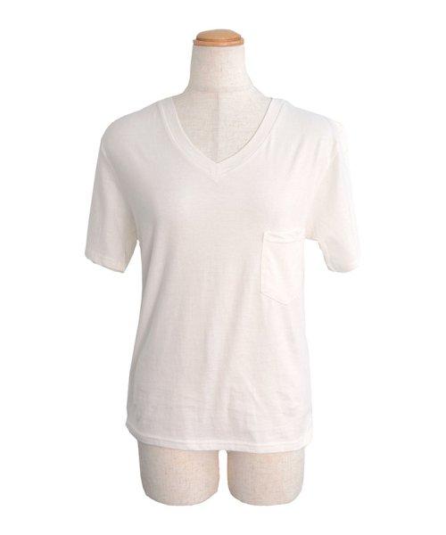 ANDJ(ANDJ(アンドジェイ))/UVカット加工VネックポケットコットンTシャツ/ts75x03923_img12
