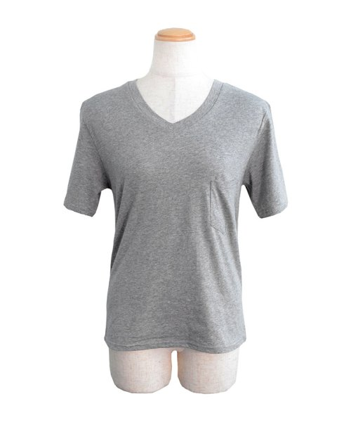 ANDJ(ANDJ(アンドジェイ))/UVカット加工VネックポケットコットンTシャツ/ts75x03923_img13