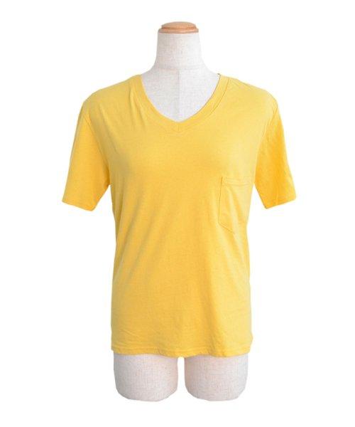 ANDJ(ANDJ(アンドジェイ))/UVカット加工VネックポケットコットンTシャツ/ts75x03923_img15