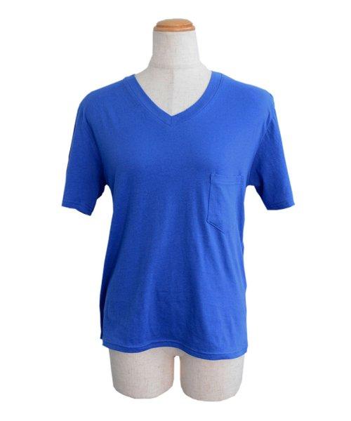 ANDJ(ANDJ(アンドジェイ))/UVカット加工VネックポケットコットンTシャツ/ts75x03923_img16