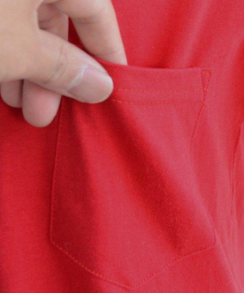 ANDJ(ANDJ(アンドジェイ))/UVカット加工VネックポケットコットンTシャツ/ts75x03923_img18