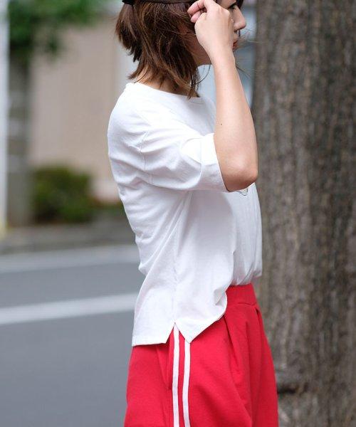 ANDJ(ANDJ(アンドジェイ))/ロゴプリントサイドスリット半袖Tシャツ/ts76x03917_img05