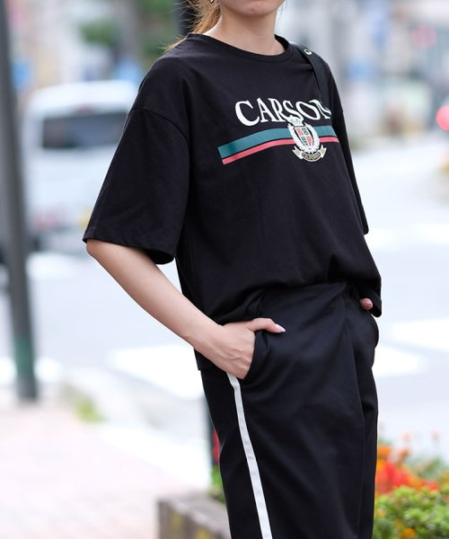 ANDJ(ANDJ(アンドジェイ))/ロゴプリントサイドスリット半袖Tシャツ/ts76x03917_img09