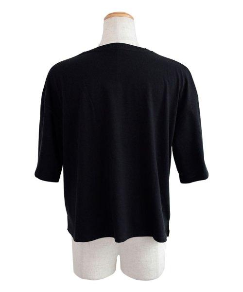 ANDJ(ANDJ(アンドジェイ))/ロゴプリントサイドスリット半袖Tシャツ/ts76x03917_img20