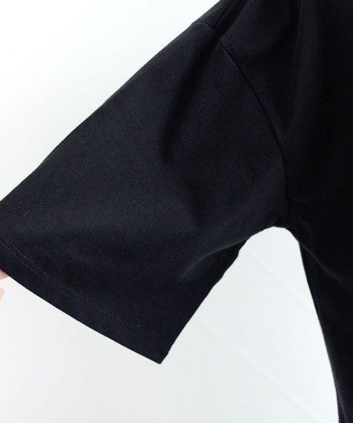 ANDJ(ANDJ(アンドジェイ))/ロゴプリントサイドスリット半袖Tシャツ/ts76x03917_img28
