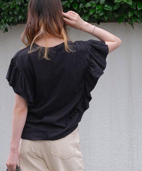 ANDJ(ANDJ(アンドジェイ))/袖フリルポケット付き半袖Tシャツ/ts74c03864_img07