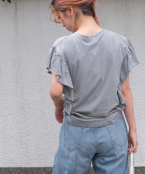 ANDJ(ANDJ(アンドジェイ))/袖フリルポケット付き半袖Tシャツ/ts74c03864_img10