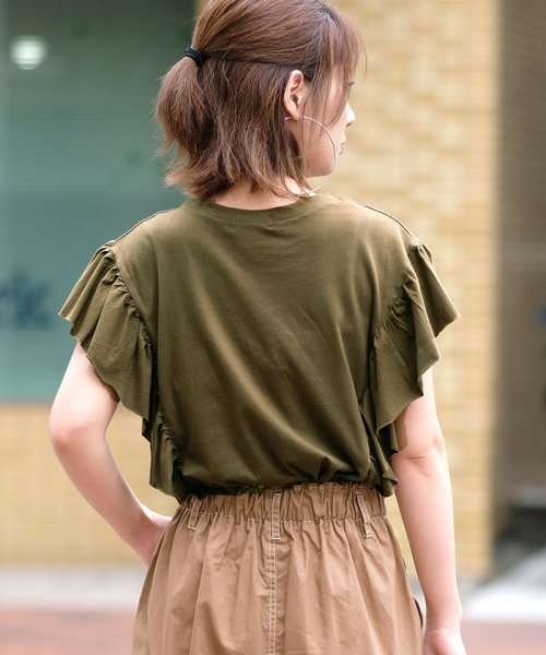 ANDJ(ANDJ(アンドジェイ))/袖フリルポケット付き半袖Tシャツ/ts74c03864_img19