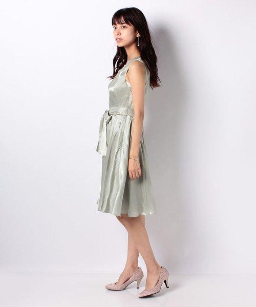 Eimy Peral(エイミーパール(ドレス))/ネックレス付光沢ウエストリボンドレス/4990_img02