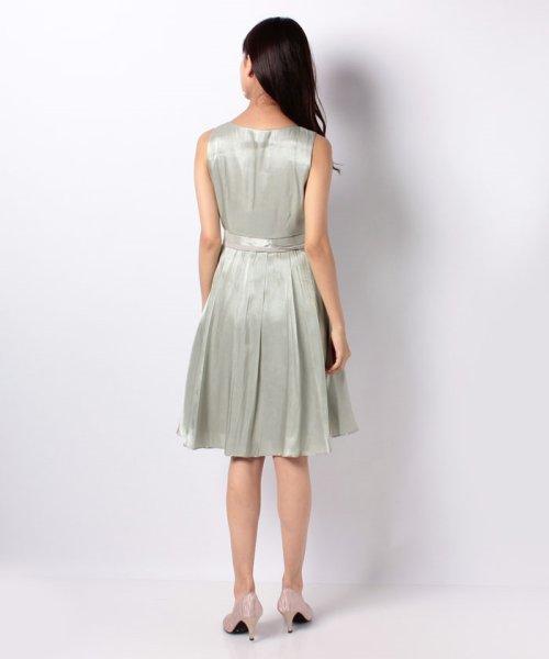 Eimy Peral(エイミーパール(ドレス))/ネックレス付光沢ウエストリボンドレス/4990_img03