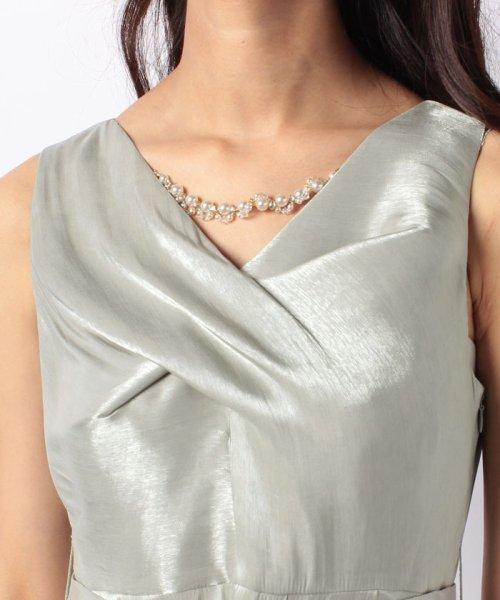 Eimy Peral(エイミーパール(ドレス))/ネックレス付光沢ウエストリボンドレス/4990_img04