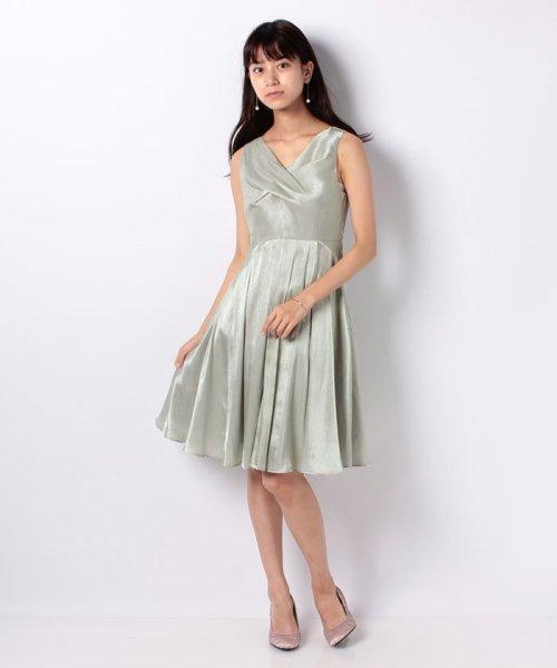 Eimy Peral(エイミーパール(ドレス))/ネックレス付光沢ウエストリボンドレス/4990_img06