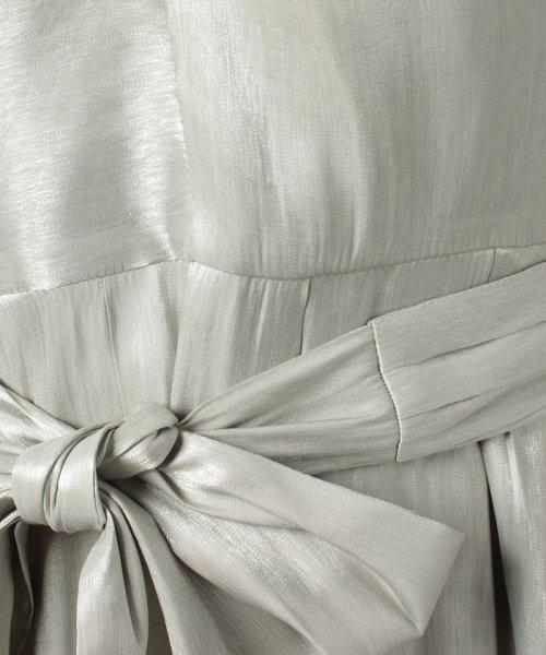 Eimy Peral(エイミーパール(ドレス))/ネックレス付光沢ウエストリボンドレス/4990_img07