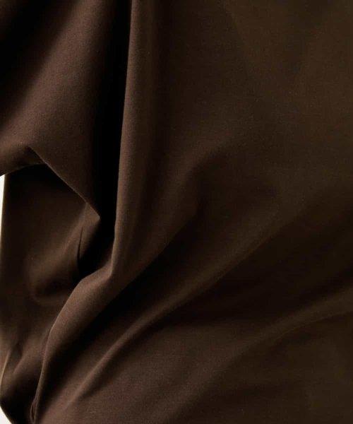 OFUON(オフオン)/【洗濯機で洗える】Vネックドロップショルダーカットソー/EUKJD01059_img06