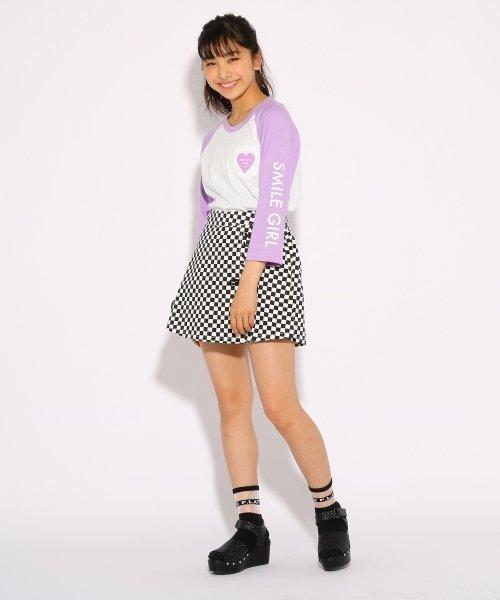 PINK-latte(ピンク ラテ)/ラグラン Tシャツ/99990931911006_img07