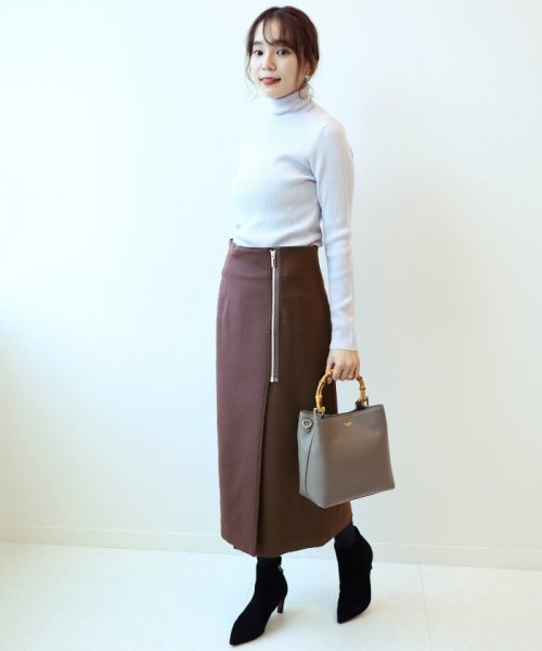 NOBLE(スピック&スパン ノーブル)/PE/RY/W ジップタイトスカート◆/18060240503030_img02