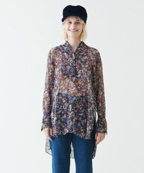 SOULEIADO(SOULEIADO)/ポリエステルプリント ドレスシャツ/75018401101_img01