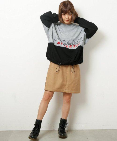 DOUBLE NAME(ダブルネーム)/ベルト付ライン台形スカート/286213390_img02