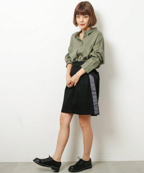DOUBLE NAME(ダブルネーム)/ベルト付ライン台形スカート/286213390_img15