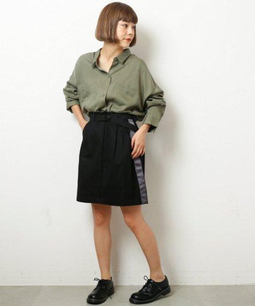 DOUBLE NAME(ダブルネーム)/ベルト付ライン台形スカート/286213390_img16