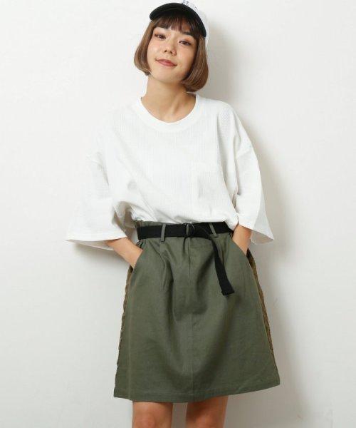 DOUBLE NAME(ダブルネーム)/ベルト付ライン台形スカート/286213390_img19