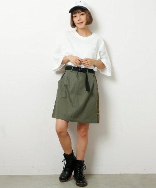 DOUBLE NAME(ダブルネーム)/ベルト付ライン台形スカート/286213390_img20