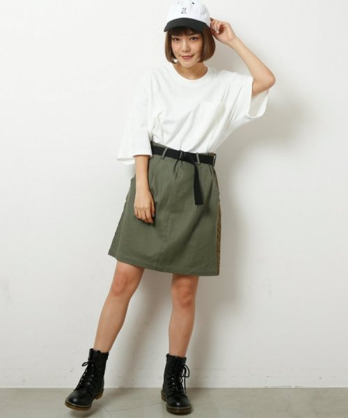 DOUBLE NAME(ダブルネーム)/ベルト付ライン台形スカート/286213390_img21