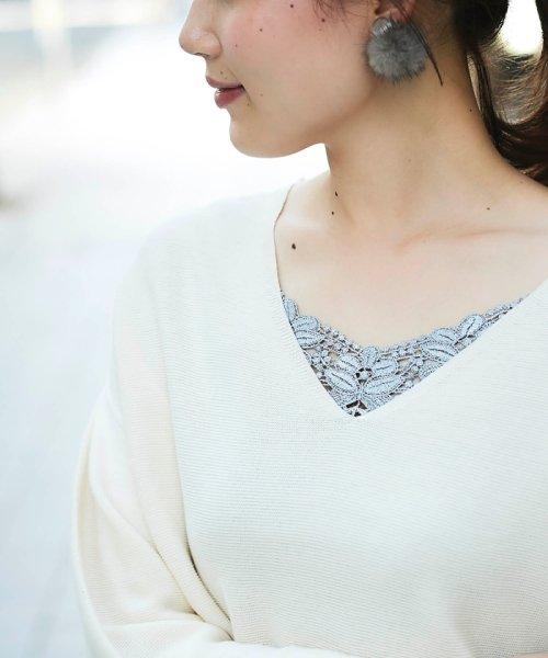 le.coeur blanc(ルクールブラン)/フロントモチーフレースキャミ/3585019201_img26