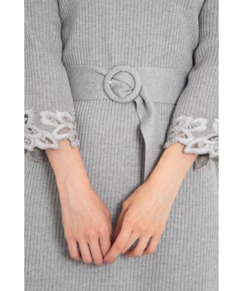 PROPORTION BODY DRESSING(プロポーション ボディドレッシング)/ハートネック袖レースリブニットワンピース/1218240907_img08