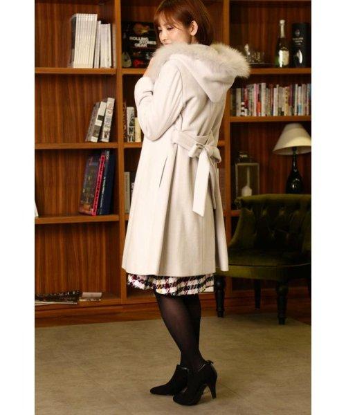 PROPORTION BODY DRESSING(プロポーション ボディドレッシング)/【美人百花 11月号掲載】フードフォックスファーガウンコート/1218252005_img03