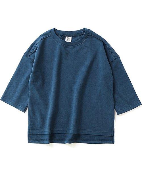 devirock(デビロック)/スリット入りミニ裏毛7分袖Tシャツ/DT0005_img06