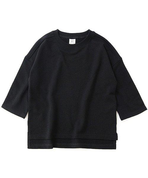 devirock(デビロック)/スリット入りミニ裏毛7分袖Tシャツ/DT0005_img10