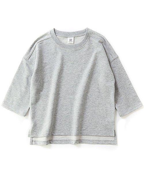 devirock(デビロック)/スリット入りミニ裏毛7分袖Tシャツ/DT0005_img12