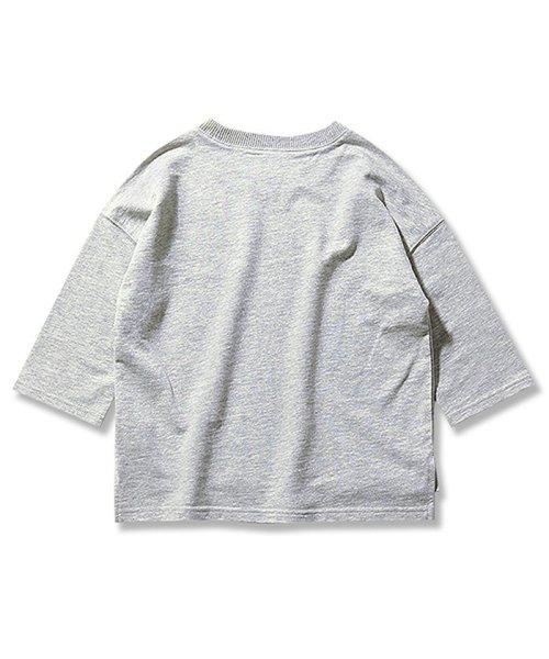 devirock(デビロック)/スリット入りミニ裏毛7分袖Tシャツ/DT0005_img15
