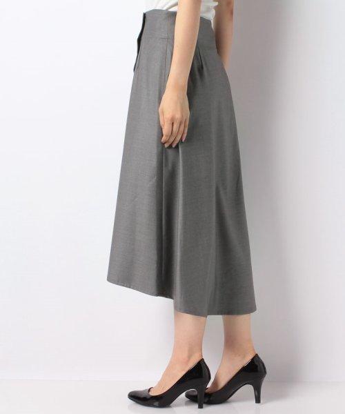 LAPINE BLEUE(ラピーヌ ブルー)/【洗える】ラップ風セミフレアースカート/239496_img01