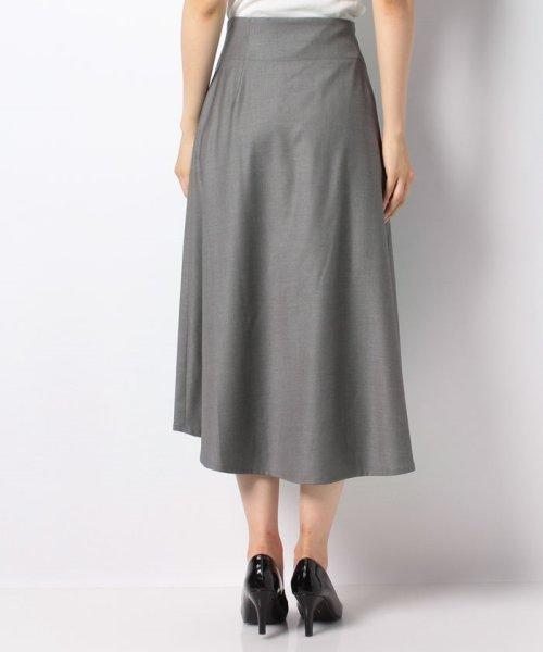 LAPINE BLEUE(ラピーヌ ブルー)/【洗える】ラップ風セミフレアースカート/239496_img02