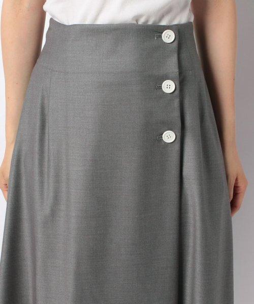 LAPINE BLEUE(ラピーヌ ブルー)/【洗える】ラップ風セミフレアースカート/239496_img03