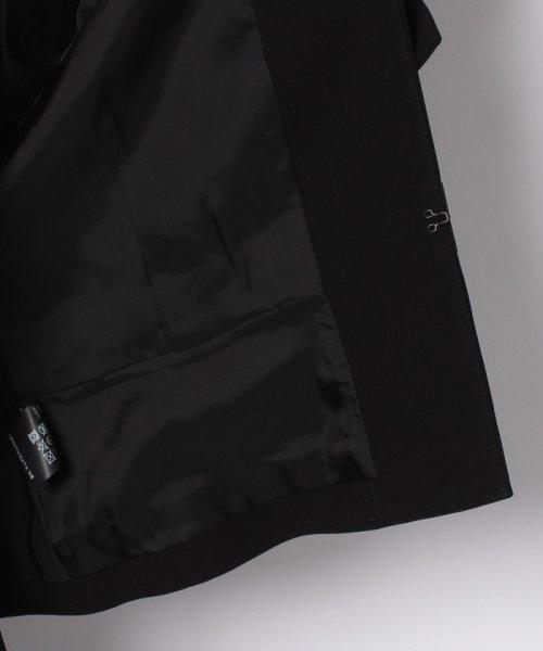 MICHEL KLEIN Noire(ミッシェル クラン ノアール)/【オールシーズン・喪服・礼服・フォーマル用】サテン切替えノーカラーアンサンブル・セットアップ/645238_img05