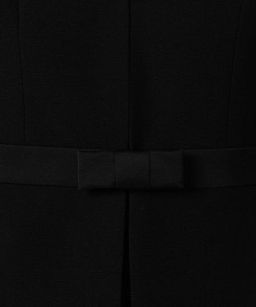 MICHEL KLEIN Noire(ミッシェル クラン ノアール)/【オールシーズン・喪服・礼服・フォーマル用】サテン切替えノーカラーアンサンブル・セットアップ/645238_img09