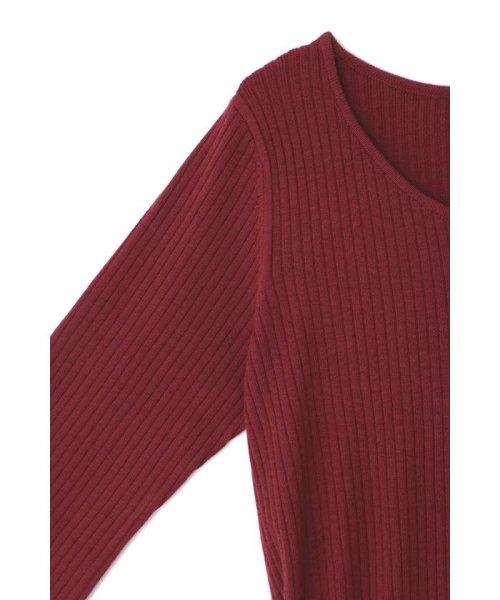 PROPORTION BODY DRESSING(プロポーション ボディドレッシング)/ハートネック袖レースリブニットワンピース/1218240907_img26